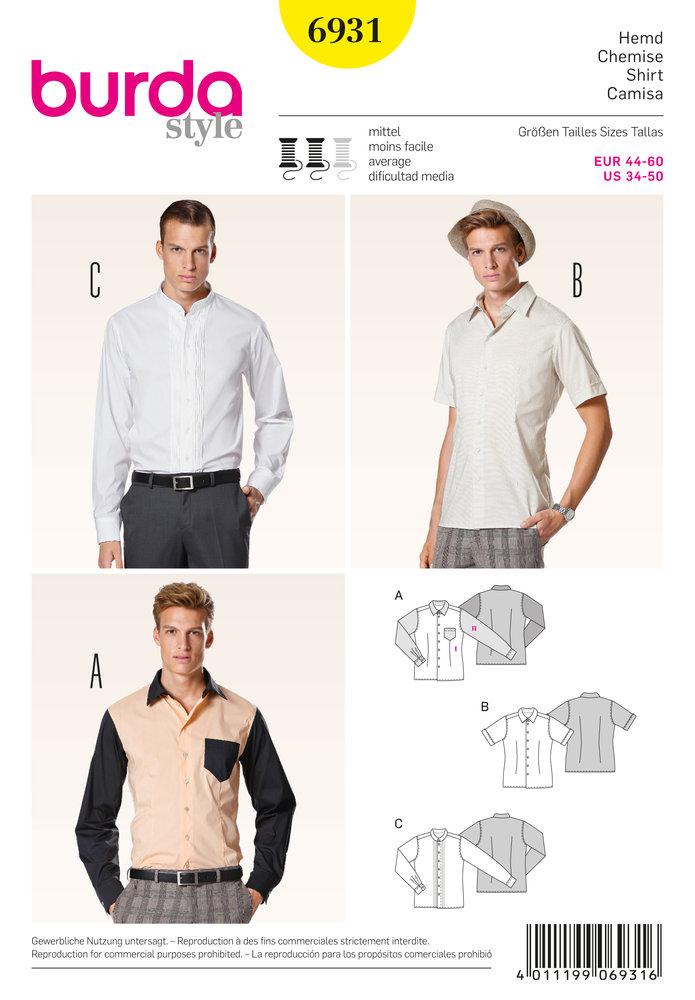 dcde7451413557 De Opkamer - Burda Heren shirt 6931